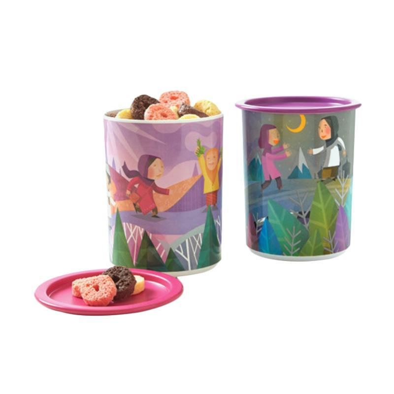Tupperware Dug Dug Canister Set Toples - Multicolor [2 Pcs]